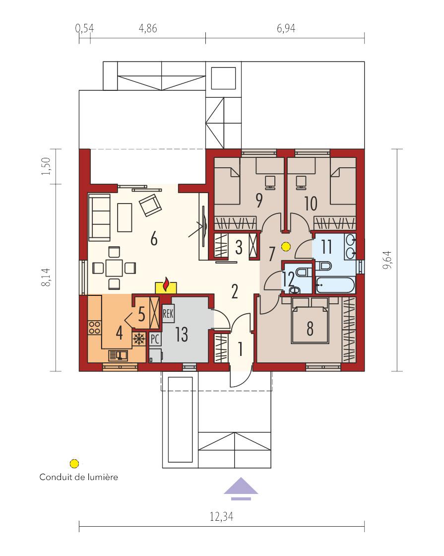 plan de maison simple MINI III PLUS