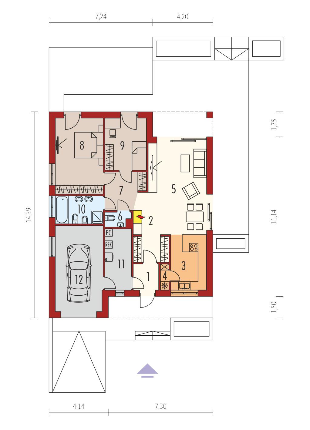 plan de maison moderne Ralf II