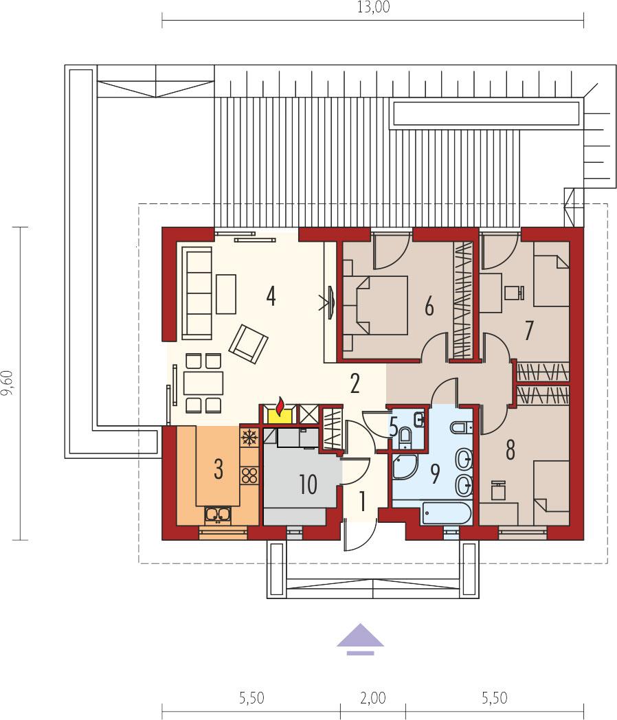 plan de maison plain-pied kornel v